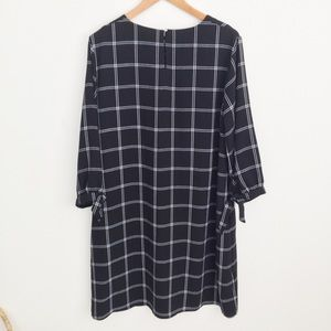 a new day Dresses - A New Day Black & White Checked Shift Dress XXL